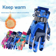Kids Winter Warm Ski Gloves Boys Girls Windproof Sports Snowboard Riding Mittens