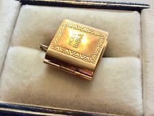 Lovely Fully Hallmarked Vintage 9 Carat Gold Holy Bible Charm Pendant  Has Pages