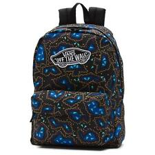Vans Girls Realm Classic Patch Black Nautical Blue Backpack Bookbag New NWT
