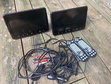 "10.1"" HD Dual Screen Car Portable DVD Player AV-IN USB SD+ Headsets"