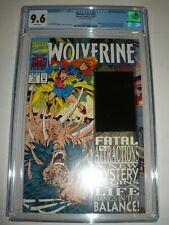 Marvel Comics Wolverine # 75 CGC 9.6 Distorted Hologram Blue Error