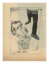 1971 Lurie Comic - Richard Nixon - My Image Domestic International vtg print ad