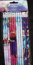 12 X Disney Frozen Cadeau Fête Remplissage de Butin Joli Crayons