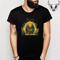 Santana Album Rock Band Legend Men's Black T-Shirt Size S to 3XL