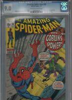 Amazing Spider-Man #98 CGC VF/NM 9.0 OW/W 1971 GREEN GOBLIN DRUG ISSUE No CCA
