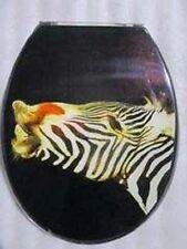 Loo with a View - Zebra Kiss Poly Resin Decor Toilet Seat, EU124