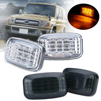 2x Fender Side Marker Turn Signal Light For Toyota Land Cruiser 70 80 100 Series