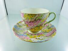 ROCK GARDEN Chinz 13454/53 TEA CUP & SAUCER  SET BY SHELLEY ENGLAND