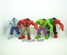 """Set of 4 pcs New Avengers Red Angry The Incredible Hulk PVC Action figures 4.3"""""""