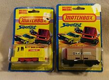 "Vintage Matchbox Superfast ""Diesel Switcher"" & ""Flat Bed Container"" 1976. Rare"