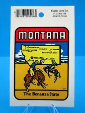 "VINTAGE... ""MONTANA STATE""  - STICKER / DECAL  (NEW OLD STOCK)..... ""L@@K"""