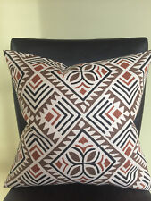Decorative Pillow Cover Brown Chocolate Cream Off White Black Pattern