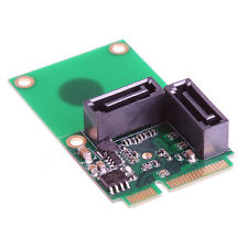 SATA 6G 2-Port Mini PCI Express Controller Card PCI-E To SATA3.0 + 2xSATA3 Cable