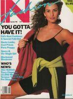 IN Fashipn magazine September 1988 Alec Baldwin Jill Goodacre 053019DBE