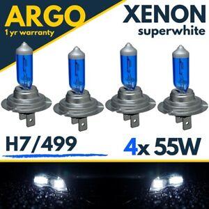 H7 Xenon 55w Headlight Bulbs Super White 8500k Car Lamp Light Effect Hid Bulb 4x