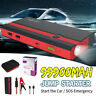 99900mAh 12V Car Jump Starter Power Bank Portable USB Battery Booster With Clamp