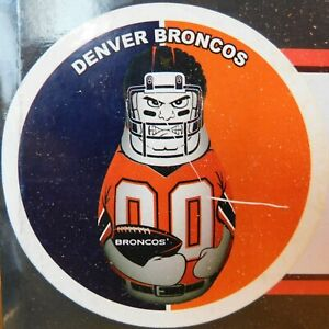 """NEW - NFL Denver Broncos Tackle Buddy - Inflatable Punching Bag 40"""" Tall 2-Sided"""