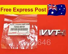 GENUINE TOYOTA VVTi VVT-i CHROME BADGE ABS STICKER LOGO EMBLEM 75443-06151 NEW