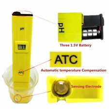 Electric Digital PH Meter Hydroponics Pen Aquarium Pool Water Tester w/ ATC func