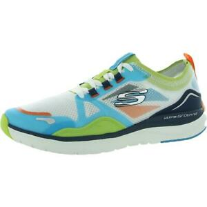 Skechers Mens Ultra Groove-Fired Up Workout Fitness Sneakers Shoes BHFO 6953