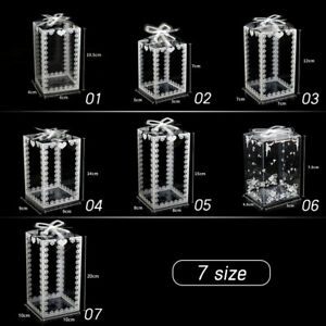 10Pcs Clear PVC Gift Boxes Cake Candy Packaging Transparent Box Wedding Xmas NEW