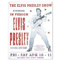 Elvis Presley Show King Of Rock & Roll Distressed Retro Vintage Metal Tin Sign