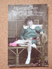R&L Postcard: Girl Portrait Reading Newspaper, Fashion Clothing, Birthday
