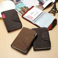 Men Leather Business Credit Card Case ID Pocket Mini Wallet Holder Bag 20