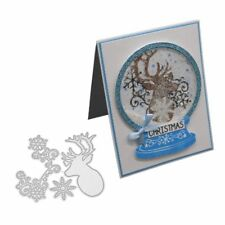 Christmas Deer Snowflake Cutting Dies Embossing Stencil Scrapbooking Die-Cut