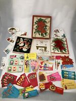 Unused Lot Vintage 50's 60's 70's 80's Christmas Gift Package Tags Cards Seals