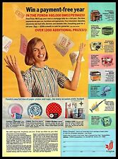 1964 Fonda Sweepstakes Coupon Paper Plates Cups Home Appliances Vintage 1960s Ad