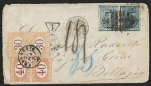 URUGUAY TO ITALY BLOCK TAX COVER 1876 certificate Landmans