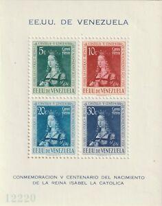 Venezuela 1951 #C333a 500th Birth Anniv. of Queen Isabella of Spain - MNH