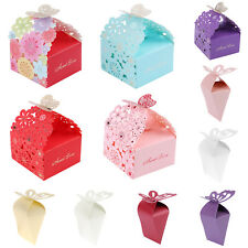 20pcs Butterfly Wedding Cake Candy Box Sweets Gift Favor Boxes Party Supplies