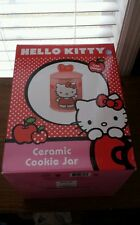 HELLO KITTY Ceramic Cat Cookie Jar Pink Red White Black Storage and More!
