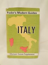 Fodor's Modern Guides - Italy, Olympic Games Supplement, collectible, 1960