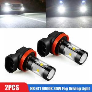 2x H8 H11 6000K 30W High Power CREE LED Fog Driving Light Canbus Lamp Bulb White