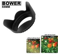 Bower 55mm Tulip Flower Lens Hood for Photo Camera Lens (Black)