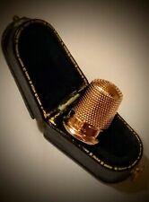 Vintage Hm'd 9ct .375 Rose Gold Thimble (Size 8), Boxed, Birmingham 1938, 4.9gr.