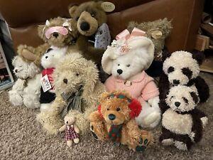 LOT of 11 Vintage Teddy Bears Boyd Ashton Drake FAO Schwarz, Ganz, Bear And Fish