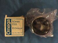 Lot of 2 X Enlarging Lenses: Kodak Ektanon 135MM f:4.5  & Omega 50MM f/3.5