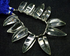 """PH-083 Crystal Quartz Lady Finger Faceted Loose Bead 12x26mm-12x32mm 321Ct 8"""" $"""