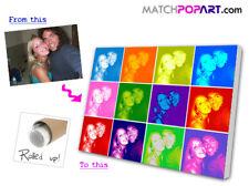 Photo 2 POP ART & Printed 2 CANVAS Great GIFT XXXL B0