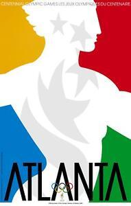 "1996 Atlanta Summer Olympic Poster - 6.5""x10"" Photo"
