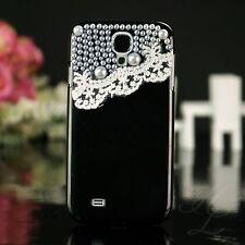 Samsung Galaxy S4 Hard Case Handy Schutz Hülle Etui Schale Perle Schwarz