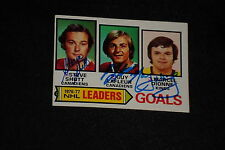 SHUTT, GUY LaFLEUR, DIONNE 1977-78 TOPPS LEADERS SIGNED AUTOGRAPHED CARD #1