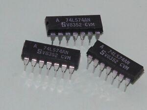 3pk - 74LS74N Dip Pkg ICs - Dual D Flip Flop(Last Packs)