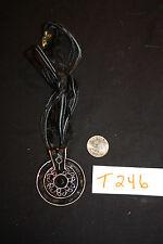 NEW Necklace ~ Large Antiqued Copper Black Enamel    AC-T246-12b