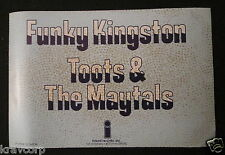 TOOTS & THE MAYTALS 'FUNKY KINGSTON' 1975 PROMOTIONAL STICKER