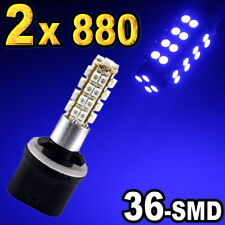 2pcs 880 881 893 Blue 36-SMD LED Driving Fog Lights 899 885 896.
